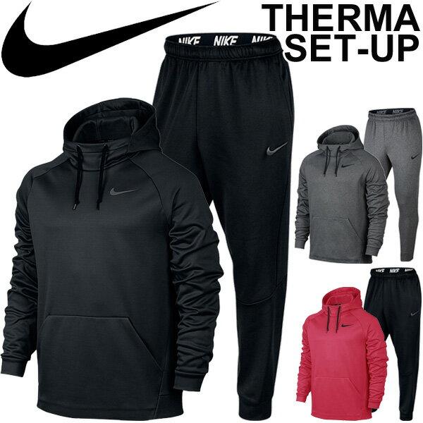 スウェット 上下セット メンズ ナイキ THERMA-FIT サーマ フーディ パーカー 男性 テーパードパンツ スエット トレーニング スポーツ ウェア 上下組/826672-800194