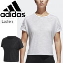 Tシャツ 半袖 レディース/アディダス adidas ID 3ストライプ/トレーニングシャツ 女性 フィットネス ランニング ジム ヨガ エクササイズ トップス スポーツウェア/EAW81