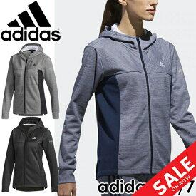 ジャージ ジャケット レディース/アディダス adidas 24/7 マイクロボーダー ウォームアップ ジャケット/トレーニングウェア 女性 フィットネス ジム トップス パーカー スポーツウェア/EUA35