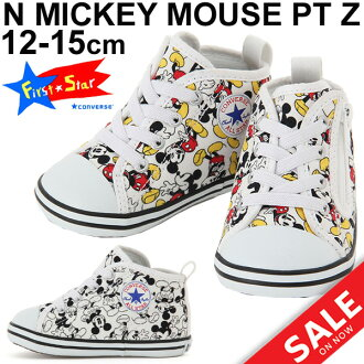 Child Disney ALLSTAR100 shoes regular article /MickeyMousePTZ of the baby sneakers child shoes Converse baby all-stars Mickey Mouse CONVERSE BABY ALLSTAR higher frequency elimination sports shoes 12.0-15.0cm boy woman