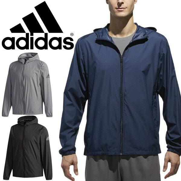 ウィンドジャケット メンズ アディダス adidas D2M トレーニングウェア 男性 アウター ランニング ジョギング ワークアウト ジム ウインドムレイカ— スポーツウェア/EUC90