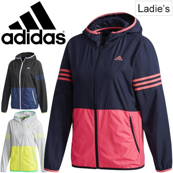 ウィンドブレーカー レディース/アディダス adidas SID カラーブロック ウインドジャケット フルジップ 女性 アウター ウインドブレイカー カジュアル 旅行 フェス スポーツウェア/ETX90