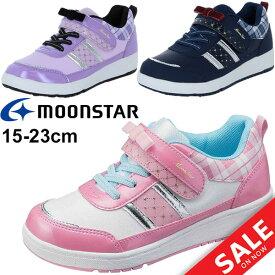 キッズシューズ ジュニア 女の子 ムーンスター moonstar ガールズ スニーカー 子供靴 15-23.0cm 女児 ベルクロ かわいい リボン 運動靴 /SG-C494
