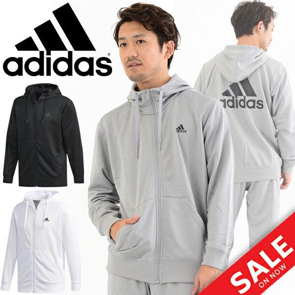 スウェット ジャケット メンズ/アディダス adidas M ESSENTIALS ライトスウェット フーディ/トレーニングウェア/男性用 アウター パーカー トレーナー スエット スポーツウェア カジュアル/FAO87