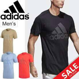 Tシャツア 半袖 メンズ アディダス adidas M ID Big Logo/トレーニングシャツ 男性 ビッグロゴ ランニング フィットネス ジム カジュアル トップス スポーツウェア/EEN83
