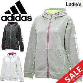 スウェット パーカー レディース アディダス adidas TEAM スエット フーディー スポーツウェア アウター 女性 部活 サークル 学生 ジム トレーニング トレーナー 普段使い/FTK55