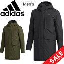 コート メンズ アウター/アディダス adidas ライトインシュレーションコート/防寒 保温 フード付き 男性用 ミディアム…