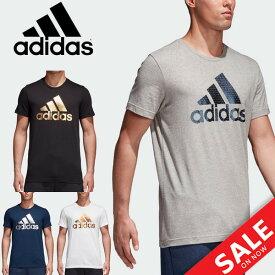 Tシャツ 半袖 メンズ/アディダス adidas BADGE OF SPORTS FOIL T/トレーニングシャツ 男性 ジム ランニング フィットネス クルーネック ビッグロゴ カジュアル トップス スポーツウェア/ELG82