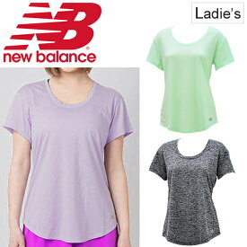 2ba7c2f9a2416 Tシャツ 半袖 レディース ニューバランス newbalance コアヘザー TEE/スポーツウェア ランニング ジョギング トレーニング 女性用