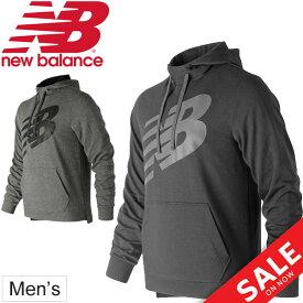 スウェット パーカー メンズ ニューバランス newbalance ライトウェイトウォームアップフーディー プルオーバー フード スエット トレーナー スポーツウェア 男性 トレーニング カジュアル/AMT91018