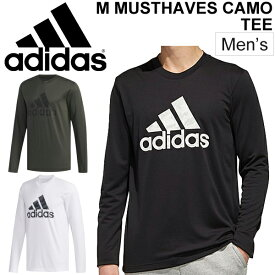 Tシャツ 長袖 メンズ アディダス adidas M MUSTHAVES CAMOグラフィック L/S TEE スポーツウェア トレーニング ビッグロゴ 男性用 長袖シャツ クルーネック 普段使い 長T トップス/FYK42