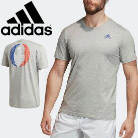 半袖 Tシャツ ラグビーシャツ メンズ アディダス adidas フランス ICON T スポーツウェア フランス代表 応援グッズ サポーター 男性 半袖シャツ バックプリント クルーネック ラガーシャツ トップス /FYM60