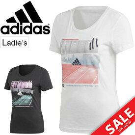 Tシャツ 半袖 レディース アディダス adidas フォト Tシャツ PHOTO TEE/スポーツ トレーニング フィットネス カジュアル ウェア スポカジ 半袖シャツ 女性 カットソー トップス/FSR73