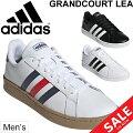 スニーカーメンズアディダスadidas/GRANDCOURTLEAグランドコートLEAローカットコートスタイルスポーツカジュアル男性靴シンプルくつ/GrandcourtLeaU