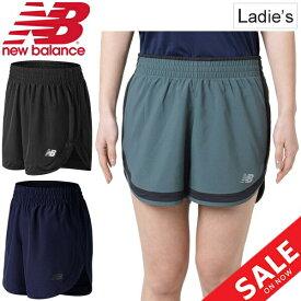 ランニングパンツ レディース ニューバランス newbalance W アクセレレイト 5インチショーツ(インナーなし)/ジョギング マラソン トレーニング フィットネス 女性 ボトムス 吸汗速乾 スポーツウェア/AWS81294