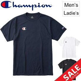 Tシャツ 半袖 メンズ チャンピオン Champion スポーツ カジュアル ウェア ワンポイント ロゴ 男性 普段使い トレーニング ストリート ロゴ Tシャツ/C3-PS390【取寄】