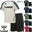 半袖Tシャツ ハーフパンツ 2点セット 上下セット メンズ ヒュンメル HUMMEL ドライ 半袖シャツ ハーフパンツ カモ柄 …