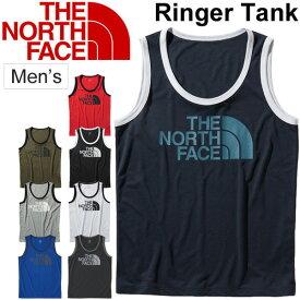 タンクトップ メンズ ノースフェイス THE NORTH FACE リンガータンク スリーブレス Tシャツ 男性用 袖なし アウトドア スポーツ カジュアル ウェア ビッグロゴ トップス/ NT31872