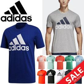 半袖Tシャツ メンズ アディダス adidas ESSENTIALS ビッグロゴ ロゴT クルーネック スポーツ カジュアル ウェア 男性 トップス/BVC61