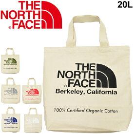 トートバッグ レディース メンズ ノースフェイス THE NORTH FACE TNFオーガニックコットン バッグ 20L 手持ち 肩掛け ビッグロゴ シンプル ナチュラル 鞄 Skal認定/ NM81971