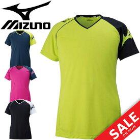 プラクティスシャツ 半袖 メンズ レディース/Mizuno ミズノ バレーボール ウェア Tシャツ/練習着 部活 学生 一般 男女兼用 トップス プラシャツ スポーツウェア/V2MA8082
