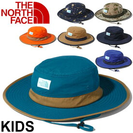 帽子 キッズ 男の子 女の子 子ども ノースフェイス THE NORTH FACE ホライズンハット Horizon Hat/子供用 ロゴ ぼうし 紫外線対策 撥水 アウトドア レジャー 林間学校 デイリー おでかけ 正規品 / NNJ01903