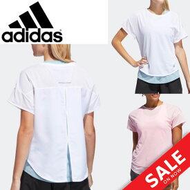 Tシャツ タンクトップ 2点セット レディース アディダス adidas W PURE レイアード TEE スポーツウェア ランニング ジョギング 自宅トレーニング フィットネス ジム 女性用 トップス /FRN49【a20Qpd】