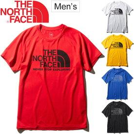 Tシャツ 半袖 メンズ ノースフェイス THE NORTH FACE/ショートスリーブGTDロゴクルー スポーツウェア 男性 ランニング 自宅トレーニング ジム 吸汗速乾 UVケア 紫外線カット アウトドア デイリー ビッグロゴ クルーネック 半袖シャツ トップス/NT61979