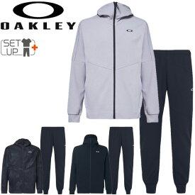 トレーニングウェア ジャージ 上下セット メンズ オークリー OAKLEY Enhance モビリティフリース ジャケット パンツ 上下組/スポーツウェア 男性 セットアップ 吸汗速乾 フィットネス/FOA400152-FOA400821