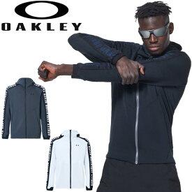 ジャージ ジャケット メンズ オークリー OAKLEY ENHANCE SYNCHRONISM JACKET/スポーツウェア 自宅トレーニング フード付き フルジップ 吸汗速乾 男性 アウター ジム 部活 上着/FOA400153