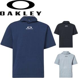 半袖 パーカー フーディ シャツ メンズ オークリー OAKLEY Enhance LT Fleece S/S Hoody 10.0/スポーツウェア トレーニング 吸汗速乾 ドライ 男性 シンプル 普段使い トップス/FOA400161