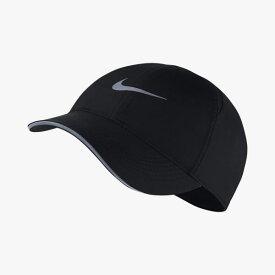 ランニング キャップ 帽子 レディース ナイキ NIKE W フェザーライト ランキャップ ジョギング マラソン トレーニング 女性用 速乾 リフレクター ロゴ ぼうし/AR2028-010