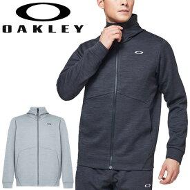 トレーニング ジャケット メンズ オークリー OAKLEY ENHANCE GRID FLEECE JACKET 10.0/スポーツウェア 吸汗速乾 フルジップ スウェット 上着 男性 アウター ジム 自宅トレーニング 宅トレ フィットネス /FOA400835
