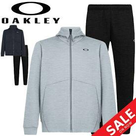 トレーニングウェア スウェット 上下セット メンズ オークリー OAKLEY ENHANCE GRID FLEECE ジャケット パンツ 上下組/スポーツウェア 男性 セットアップ 吸汗速乾 ジム 自宅トレーニング 宅トレ フィットネス/FOA400835-FOA400822