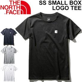 Tシャツ 半袖 レディース ノースフェイス THE NORTH FACE SSスモールボックスロゴティー/アウトドアウェア 女性 クルーネック 半袖シャツ カジュアル ロゴ シンプル トップス/NTW32052