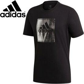 半袖 Tシャツ メンズ/アディダス adidas ロゴ ボックスフォイル S/S TEE/スポーツ カジュアル ウェア ブラック 黒 男性 クルーネック トップス 家トレ/IXV82-GD5929