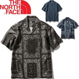 半袖 開襟シャツ オープンカラー メンズ/ノースフェイス THE NORTH FACE S/Sクライミングサマーシャツ/アウトドアウェア 男性 トレッキング 夏キャンプ レジャー タウンユース/NR21931