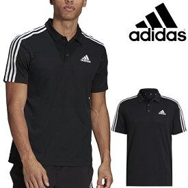半袖 ポロシャツ メンズ/アディダス adidas M D2M 3ストライプス ポロ/スポーツ カジュアル ウェア 黒 ブラック 男性 普段使いトップス/42504-GM2075