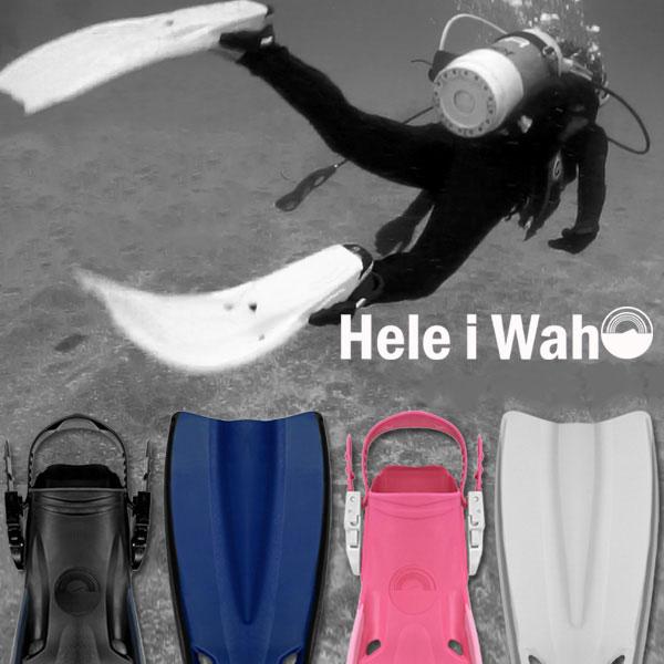 ダイビング フィン ラバーフィン スキューバ スキューバダイビング 素潜り スキンダイビング シュノーケリング スノーケリング マリンスポーツ HeleiWaho ヘレイワホ スキューバーダイビング メンズ レディース