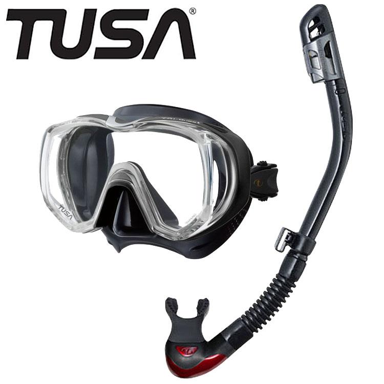 TUSA 軽器材2点セット ツサ ダイビング マスク シュノーケル 軽器材 セット 軽器材セット 2点 【m3001-drymax】M3001 SP200 ドライシュノーケル シュノーケルセット シュノーケリングセット スノーケリングセット 素潜り スキューバダイビング