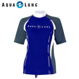 ラッシュガード AQUALUNG/アクアラング アクアラング オリジナル 半袖 レディース|シュノーケル ダイビング サーフィン シュノーケリング ラッシュ ガード スノーケル スキューバダイビング 海 スノーケリング マリンスポーツ おしゃれ