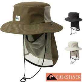QUIKSILVER クイックシルバー サーフハット メンズ サファリハット UVハット ビーチハット サーフキャップ サーフィン ダイビング シュノーケリング 帽子 UV SUP CAMP HAT QSA201755