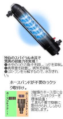 【kamihata】観賞魚用照明器具カミハタ殺菌灯ターボツイストZ9w