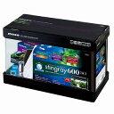 【ニッソー】スティングレー600 熱帯魚7点セット(W600xD300xH450mm)曲げ水槽・フィルター・LED・保温器具など