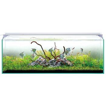 アクアFスペシャル大特価!【ニッソー】ルームグラス900スリムLEDセット(900×220×360ミリH)水槽、LEDセットスーパークリアガラス採用