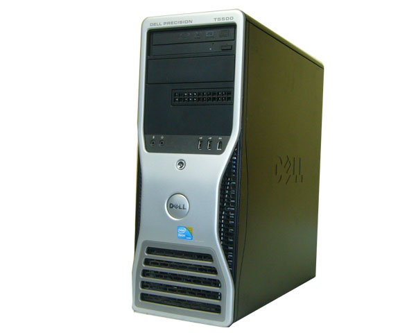 Windows7(32bit) リカバリー付 DELL PRECISION T5500中古ワークステーション 送料無料Xeon E5520 2.26GHz×2/4GB/500GB/FX1800