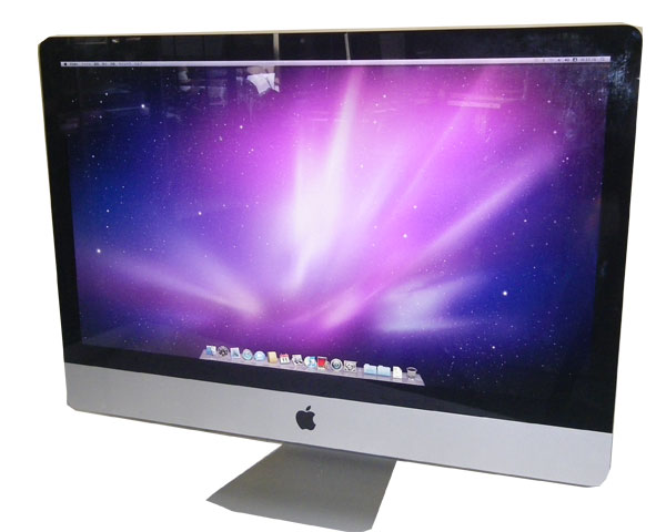 Apple iMac A1312 27インチ【中古】Core2Duo-E8600 3.33GHz/8GB/1TB/マルチ/Radeon HD 4850/無線LAN