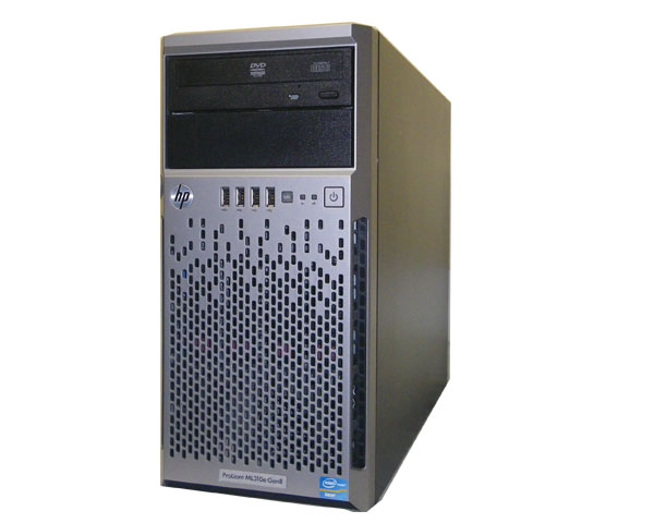 HP ProLiant ML310e Gen8 675241-B21【中古】Xeon E3-1220 V2 3.1GHz/8GB/450GB×2