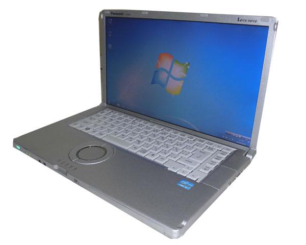 中古パソコン ノート Windows7 Panasonic Let'sNote CF-B10 (CF-B10PWYYS) Core i3-2310M 2.1GHz 4GB SSD 256GB 光学ドライブなし 無線LAN HDMI 中古ノートPC レッツノート 15.6インチ