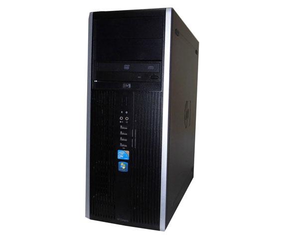リカバリー付き(Windows7+WindowsXP) 中古パソコン デスクトップ タワー型 hp Compaq 8000 Elite CMT (AU245AV) Core2Duo E8400 3.0GHz メモリ4GB HDD500GB DVD-ROM